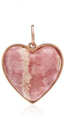 Jacquie Aiche 14K rose gold agate heart charm