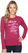 Life is Good Grateful Stencil Long Sleeve Crusher Tee