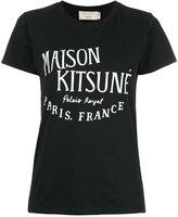 MAISON KITSUNÉ logo print T-shirt - women - Cotton - M