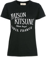 MAISON KITSUNÉ logo print T-shirt - women - Cotton - S