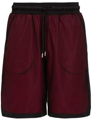 Marcelo Burlon County of Milan County Mesh Shorts - Mens - Black Red