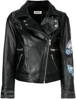 Zadig & Voltaire print biker jacket