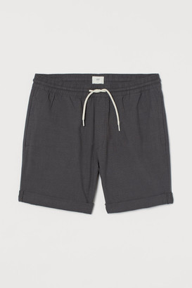 H&M Knee-length Cotton Shorts - Black