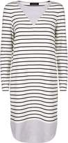 Jaeger Jersey Breton Stripe Dress