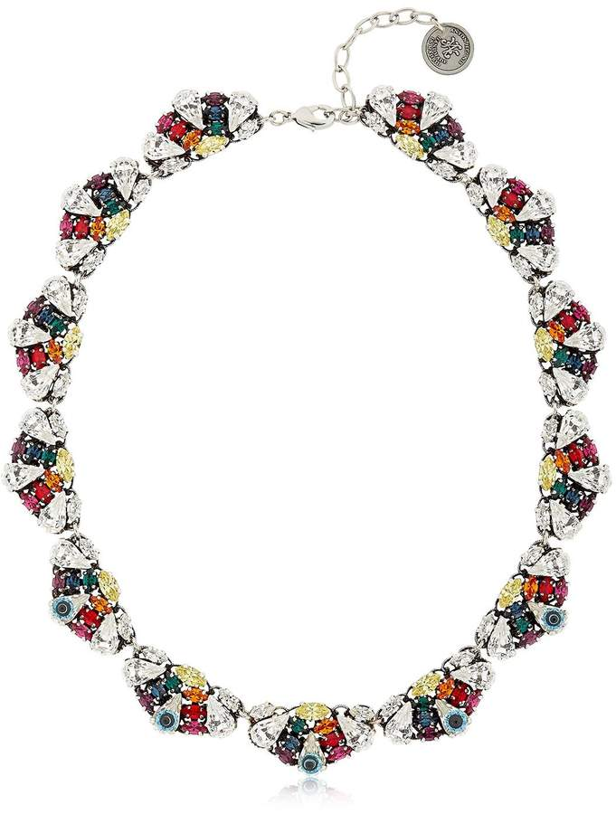 Anton Heunis Crystal Leaf Necklace