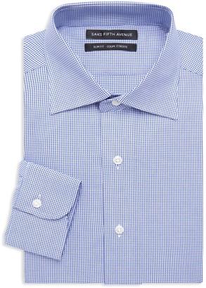 Saks Fifth Avenue Slim-Fit Fine Check Dress Shirt