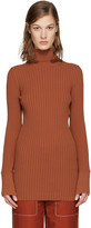 Stella McCartney Orange Ribbed Turtleneck