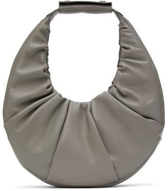 STAUD Grey Soft Moon Bag