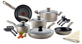 T-Fal Simply Cook Nonstick C537SF Dishwasher Safe Cookware 15 Pc Set Champagne