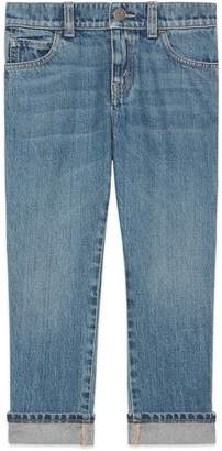 Gucci Children's denim pant with Band