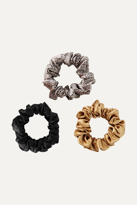 Slip Set Of Three Large Silk Hair Ties - Black