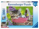 Ravensburger Ravens burger Sleeping Kitten Puzzle - 100pc