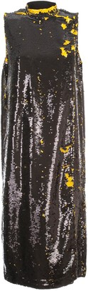 Ganni Sequins Dress W/s Crew Neck
