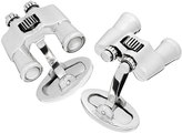 Jan Leslie Sterling Binocular Cuff Links w/ Mother-of-Pearl Lenses