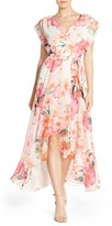 Eliza J Petite Women's Floral Print Chiffon High/low Dress