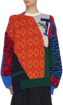 Toga Archives Contrast print crew neck sweater