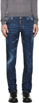 DSQUARED2 Blue Faded & Distressed Jeans