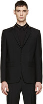 Givenchy Black Wool Zippered Blazer