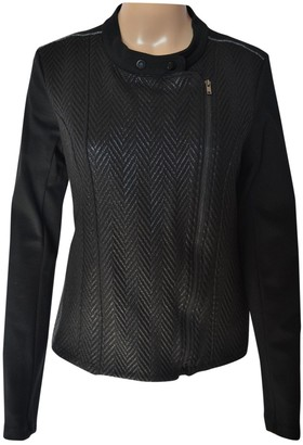 One Step Black Leather Jacket for Women