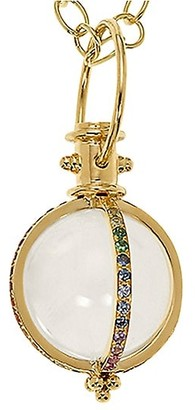 Temple St. Clair Celestial Rock 18K Yellow Gold, Crystal & Multi-Stone Classic Amulet