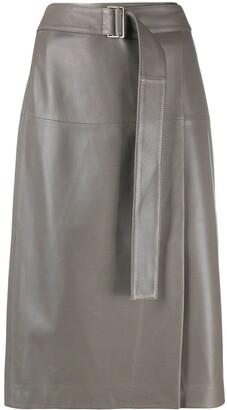 Joseph belted-waist A-line skirt