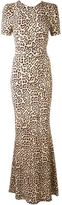 Givenchy fitted leopard print gown - women - Spandex/Elastane/Viscose - 36