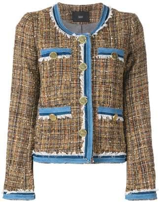 Steffen Schraut denim details tweed jacket