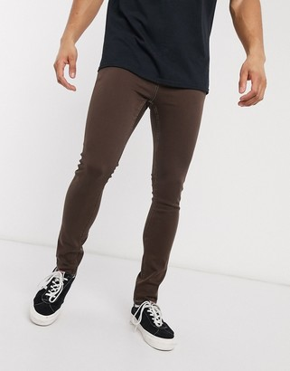 ASOS DESIGN super skinny jeans in brown