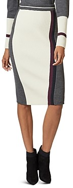 Ted Baker Glowti Color-Blocked Knit Skirt