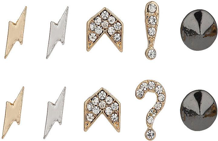 Topshop Set of five stud earrings