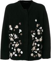 Ermanno Scervino oversized floral embroidered cardigan