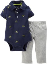 Carter's Baby Boys' 2 Piece Print Bodysuit Set (Baby) (NB, )