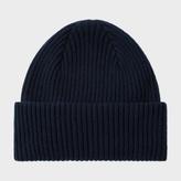 Paul Smith Men's Navy Cashmere Beanie Hat