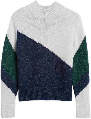 Banana Republic Petite Color-Block Cropped Sweater