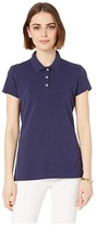 Lilly Pulitzer Meredith Short Sleeve Golf Polo (True Navy) Women's Clothing