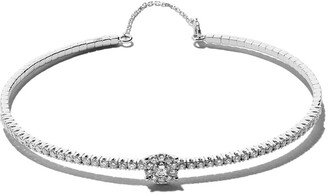 As 29 18kt white gold Mye halo diamond bangle