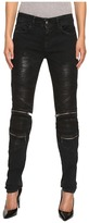 Just Cavalli Distressed Coated Zip Detail Skinny Jeans