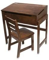 Lipper Slanted Top Desk & Chair – Walnut