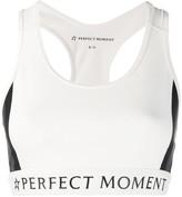 Perfect Moment racerback striped sports bra