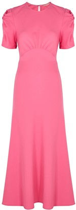 Maggie Marilyn It's Up To You Pink Wool Midi Dress