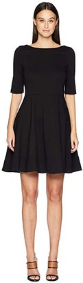 Kate Spade Broome Street Lace-Up Ponte Dress (Black) Women's Dress