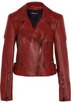 Tom Ford Leather Biker Jacket - Red