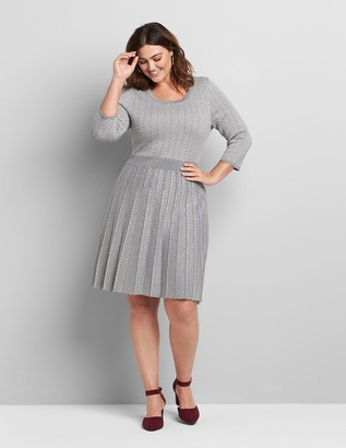 Lane Bryant Perfect Sleeve Fit & Flare Sweater Dress