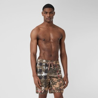 Burberry Camouflage Check Swim Shorts