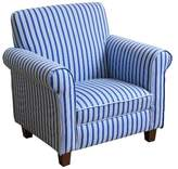 HomePop Juvenile Club Chair Blue & White Stripes