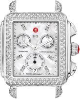 Michele Deco Day Diamond Watch Head, Stainless Steel