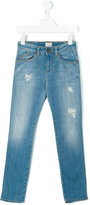 Armani Junior distressed jeans - kids - Cotton/Spandex/Elastane - 8 yrs
