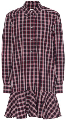 Etoile Isabel Marant Ondria plaid cotton shirt dress