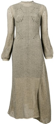 Chloé Ribbed Knit Midi Dress
