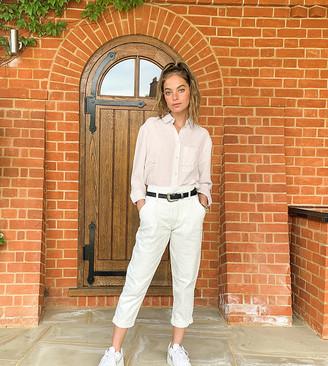 New Look Petite volume leg trouser in stone